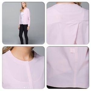 Lululemon Neutral Blush Solo Blouse Cardigan Shirt